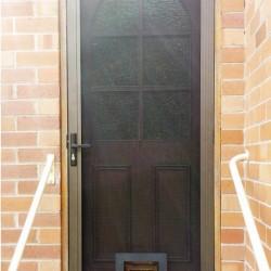 Stainless Screen Security Door With Pet Door